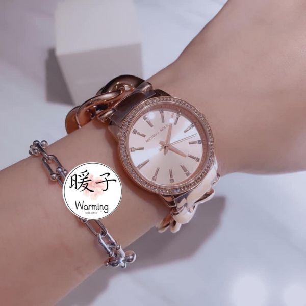 Michael Kors 玫瑰金鏈錶