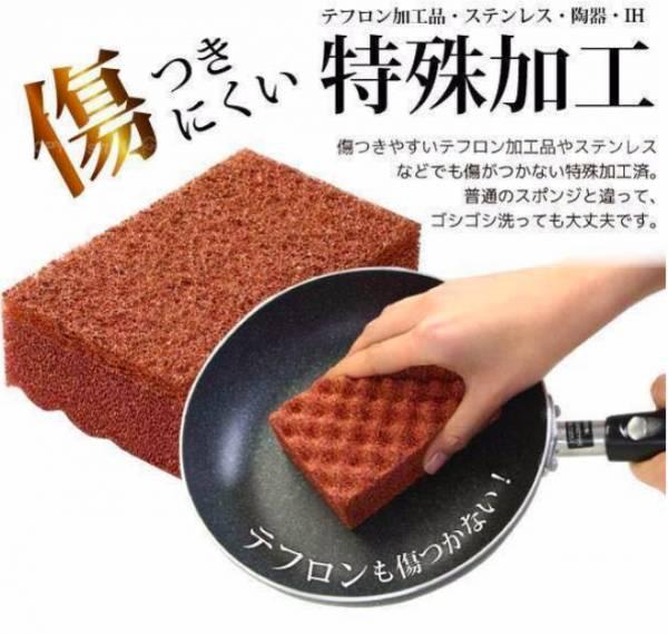 日本製 銅之力-天然抗菌 銅離子 清潔海綿刷 2個入 清潔海綿刷,日本製,天然抗菌,銅離子,廚房清潔