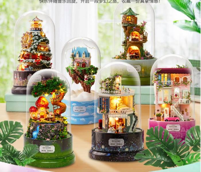 韓國 DIY手作夢幻夜燈音樂盒 6款可選 韓國 DIY手作夢幻音樂盒 6款可選