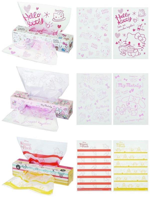 日本盒裝雙開抽取式防油透明塑膠袋/一盒40入/3款可選