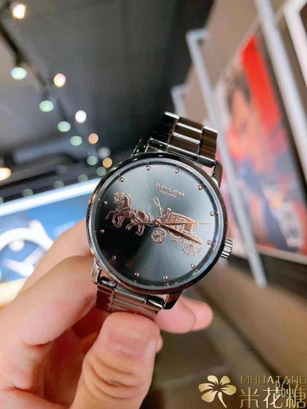 COACH 超美鋼錶 紫色款