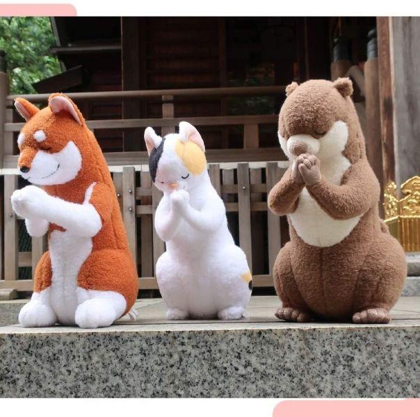 日本合掌參拜玩偶 / 財神祭一年一限定招財開運小金槌  2款可選 / 招財金蘋果