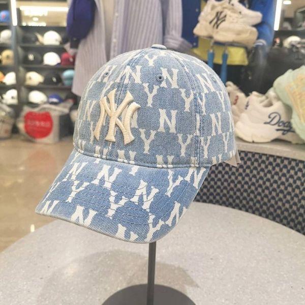 韓國代購 MLB 滿版牛仔丹寧老帽