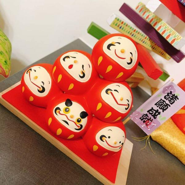 日本緣起物系列 幸福糰子層層疊和風擺飾