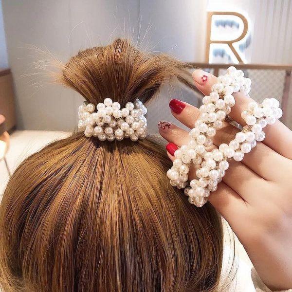 韓國珍珠髮繩2入組