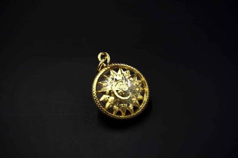 泰國龍婆本廟 金銀財寶聚寶鑰匙圈 / 星月轉輪