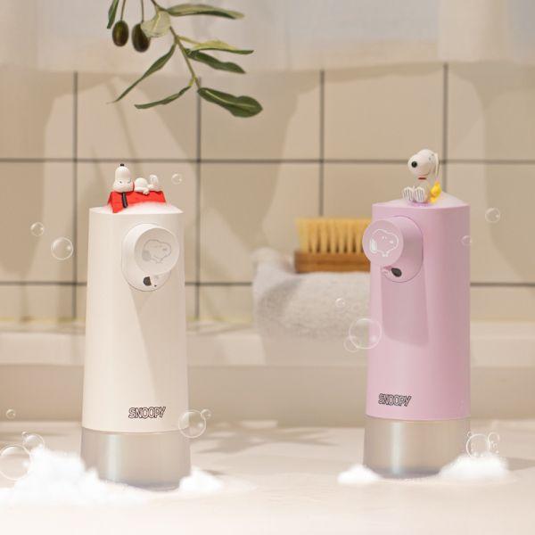 韓國 史努比 公仔自動給皂機 / 夜燈加濕器 / 日本限定款 粉紅史奴比 大 / 小 ,收納包 人氣販售中