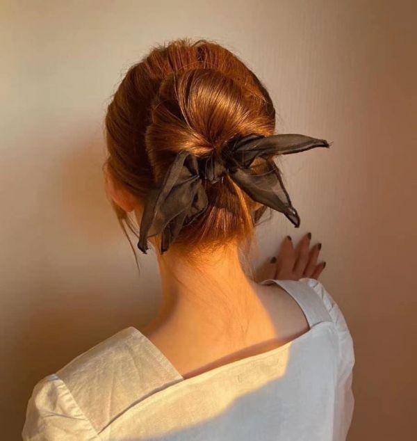 正韓-超唯美蝴蝶結盤髮器