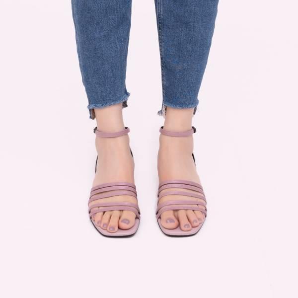 萬人迷Bella!細細五線譜層疊涼鞋 紫 全真皮MIT【Major Pleasure】-丁香色 MIT,真皮鞋,涼鞋,好穿鞋
