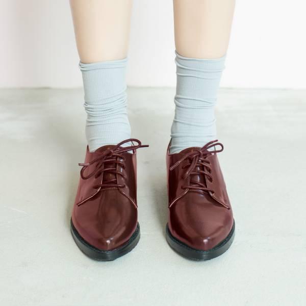 不擠腳紳士鞋!奶油霜霧面德比鞋 全真皮 暗紅 MIT -暗紅 MIT,真皮,德比鞋,紳士鞋,出國好穿鞋