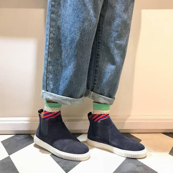 3M機能型!真呼吸牛皮防水短靴 藍 全真皮 MIT 【Major Pleasure】-濃藍色 3M,真皮靴,短靴,雨靴,mit,防水鞋
