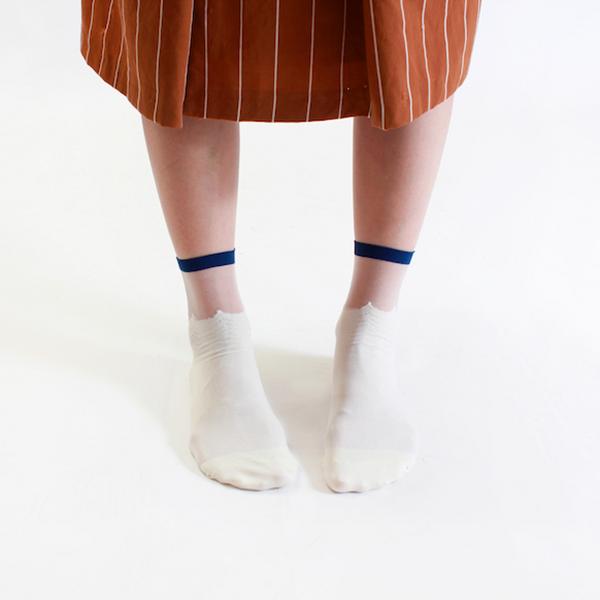 +10・加拾設計襪_晚上的海3/4襪_海浪 mit,短襪,棉襪,+10
