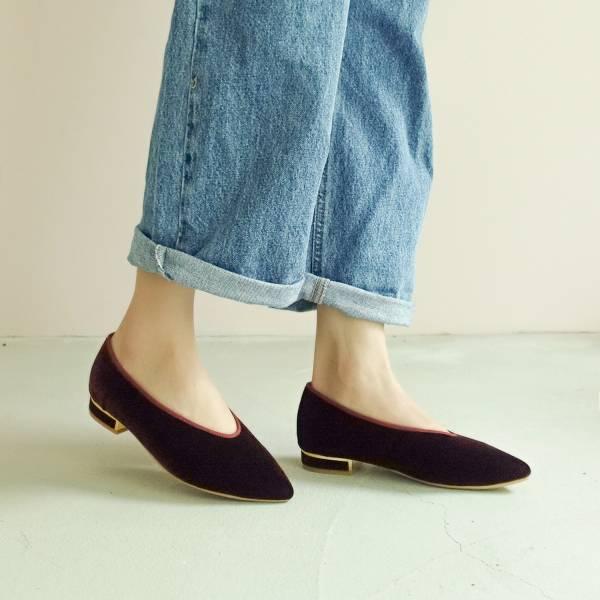 日本天鵝絨!曖曖光澤優雅尖頭鞋 咖 MIT 【Major Pleasure】-太妃深栗 平底鞋,尖頭鞋,,MIT,手工鞋,Vintage,復古,絲絨,天鵝絨