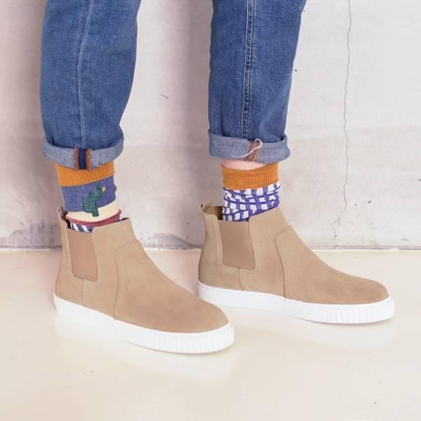 3M機能型!真呼吸牛皮防水短靴 米 全真皮 MIT 【Major Pleasure】-米綢色 3M,真皮靴,短靴,雨靴,mit