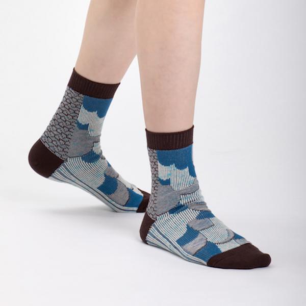 +10・加拾設計襪_大地也會眨眼睛3/4襪_二葉松 mit,短襪,棉襪,+10
