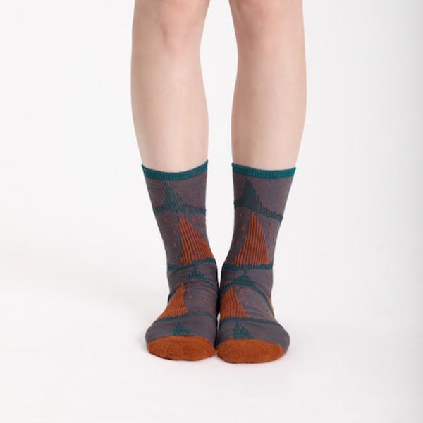 +10・加拾設計襪_心臟的重量3/4襪_火湖 mit,短襪,棉襪,+10