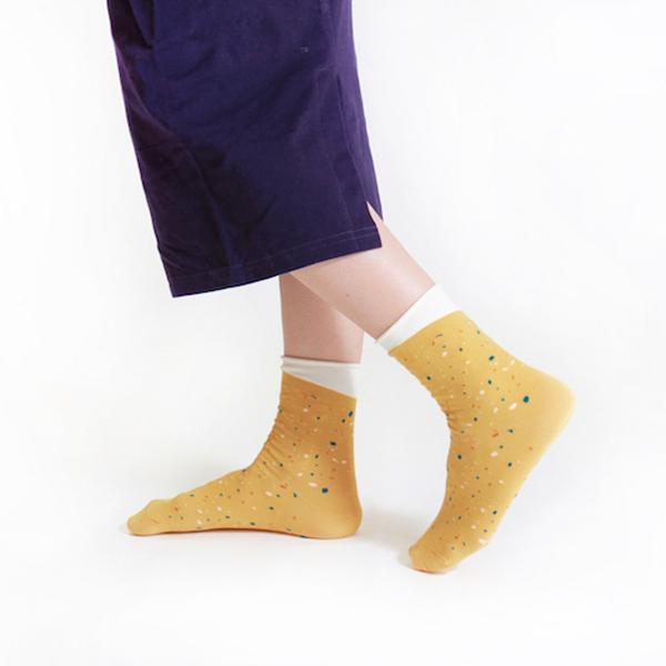 +10・加拾設計襪_下雨的路3/4襪_踩水 mit,短襪,棉襪,+10