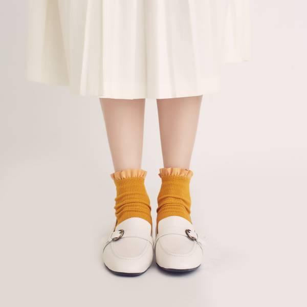 輕便直套式!繫皮帶方頭樂福鞋 白 全真皮 MIT 【Major Pleasure】-白色 樂福鞋,平底鞋,方頭,休閒鞋,真皮鞋,mit