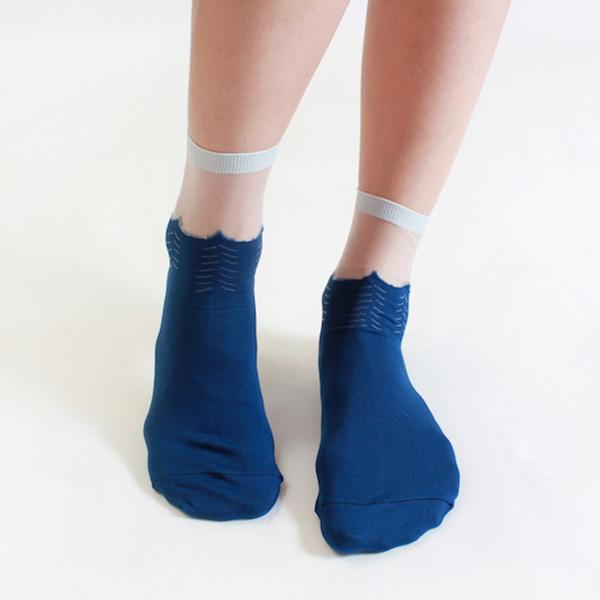 +10・加拾設計襪_晚上的海3/4襪_大海 mit,短襪,棉襪,+10