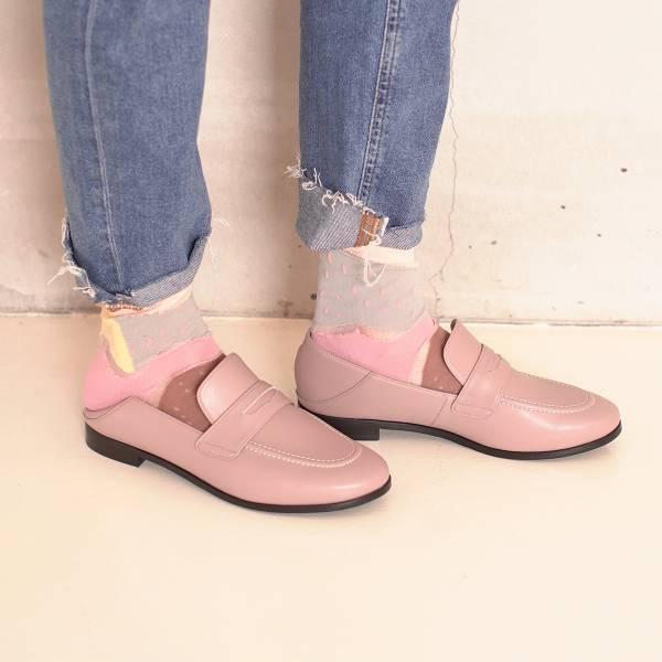 可踩兩穿式!月球漫步便士樂福鞋 藕 環保超纖MIT 【Major Pleasure】-藕荷色 樂福鞋,mit,出國好走鞋.休閒鞋