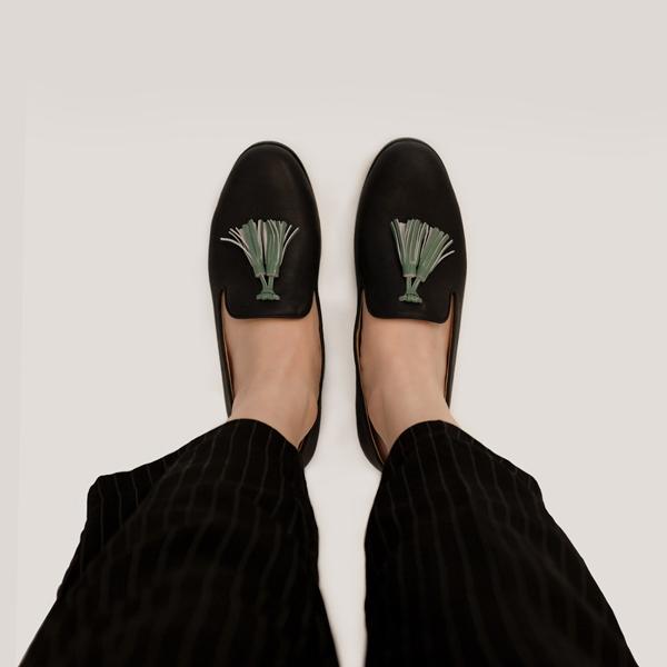 舒芙蕾足感!搖擺流蘇霧面樂福鞋 黑 內外全真皮MIT 【Major Pleasure女子鞋研究室】-黑 MIT,真皮,流蘇,樂福鞋,出國好穿鞋