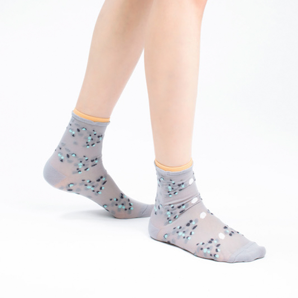 +10・加拾設計襪_熱帶斑海豚3/4襪_雲街 mit,短襪,棉襪,+10