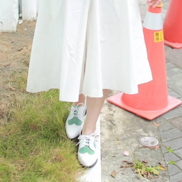 【零碼出清】一起去巴黎!雙層牛奶布蕾德比鞋 全真皮 MIT -嫩綠 草木系 真皮,德比鞋,出國好穿鞋,牛津鞋