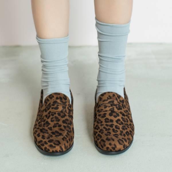 休閒直套式!月球漫步便士樂福鞋 豹紋 全真皮 MIT 【Major Pleasure】-豹紋 平底鞋,樂福鞋,MIT,手工鞋,Penny Loafer,真皮,復古,絲絨,