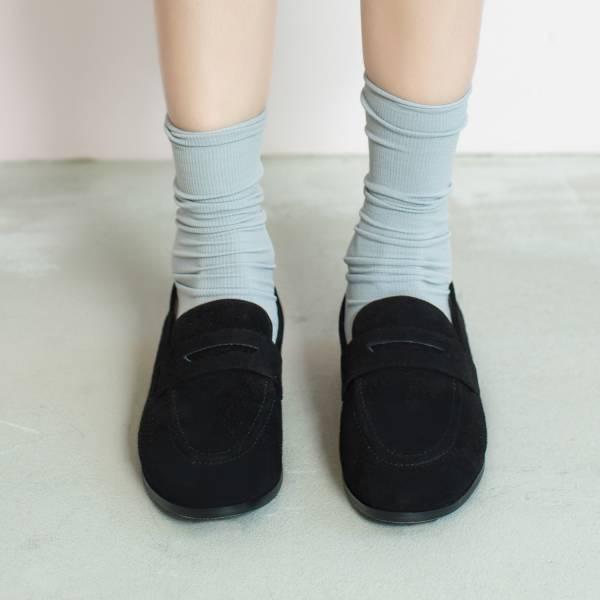 休閒直套式!月球漫步便士樂福鞋 黑 全真皮 MIT 【Major Pleasure】-黑鐵色 平底鞋,樂福鞋,MIT,手工鞋,Penny Loafer,真皮,復古,絲絨,