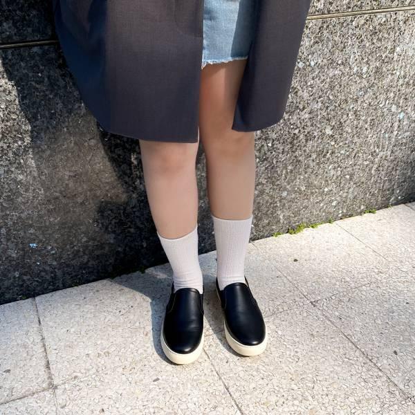 舒適再升級!全方位護足懶人便鞋 黑 全真皮 MIT 【Major Pleasure】-牛皮黑色 懶人鞋.真皮鞋