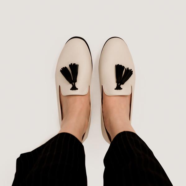舒芙蕾足感!搖擺流蘇霧面樂福鞋 白 內外全真皮MIT 【Major Pleasure女子鞋研究室】-白 MIT,真皮,流蘇,樂福鞋,出國好穿鞋