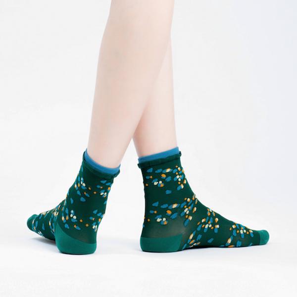 +10・加拾設計襪_熱帶斑海豚3/4襪_朔 mit,短襪,棉襪,+10