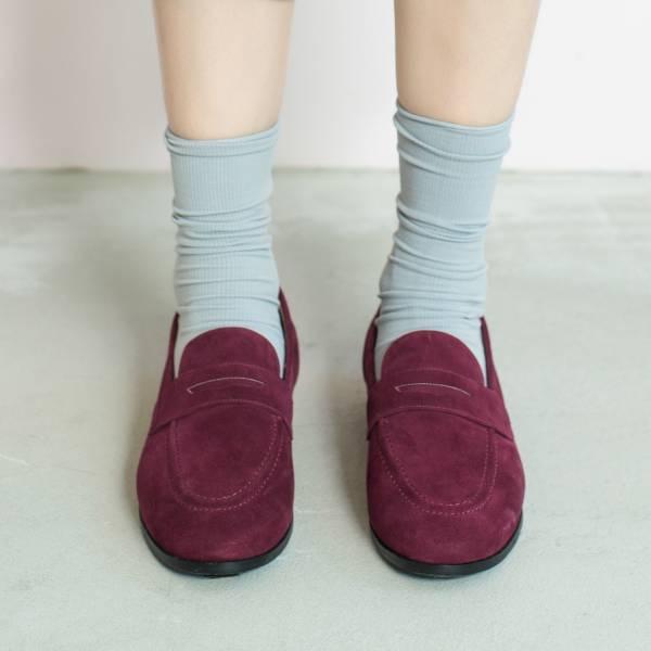 休閒直套式!月球漫步便士樂福鞋 紅紫 全真皮 MIT 【Major Pleasure】-紅紫色 平底鞋,樂福鞋,MIT,手工鞋,Penny Loafer,真皮,復古,絲絨,