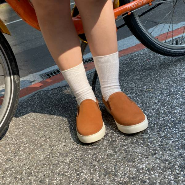 舒適再升級!全方位護足懶人便鞋 橘 全真皮 MIT 【Major Pleasure】-防水蜜橙 懶人鞋.真皮鞋