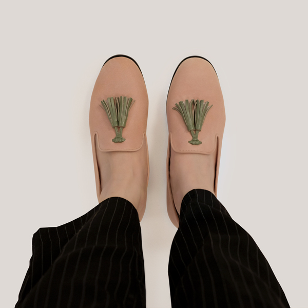 舒芙蕾足感!搖擺流蘇霧面樂福鞋 粉 內外全真皮MIT 【Major Pleasure女子鞋研究室】-淺櫻 MIT,真皮,流蘇,樂福鞋,出國好穿鞋