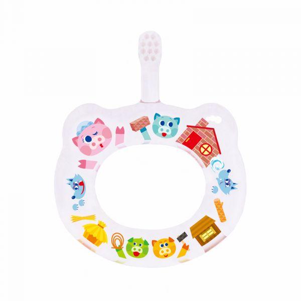 HAMICO寶寶顧齒牙刷-三隻小豬