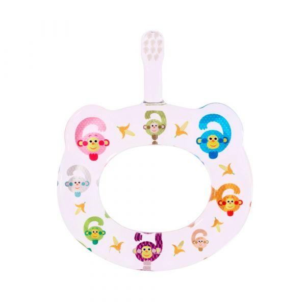 HAMICO寶寶顧齒牙刷-月份6猴子