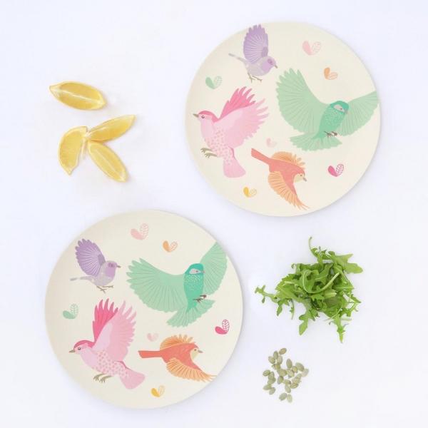 Love Mae 2件組竹纖維餐具 青鳥 (大盤) love mae, 餐具, 餐盤, 竹纖維