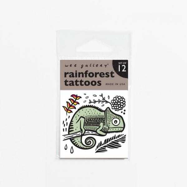 Wee gallery兒童紋身貼紙-熱帶雨林