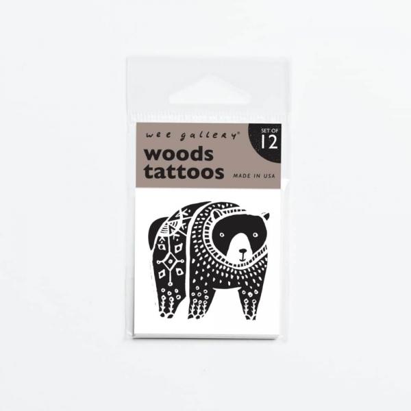Wee gallery兒童紋身貼紙-森林