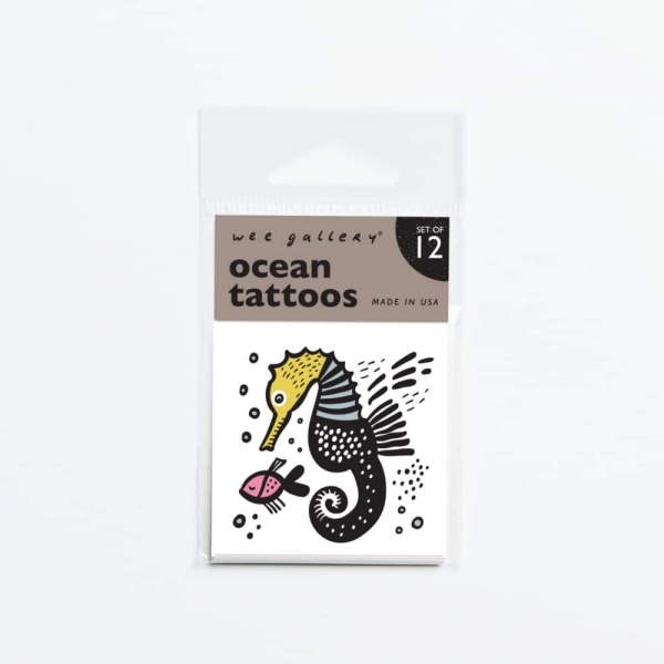 Wee gallery兒童紋身貼紙-海洋