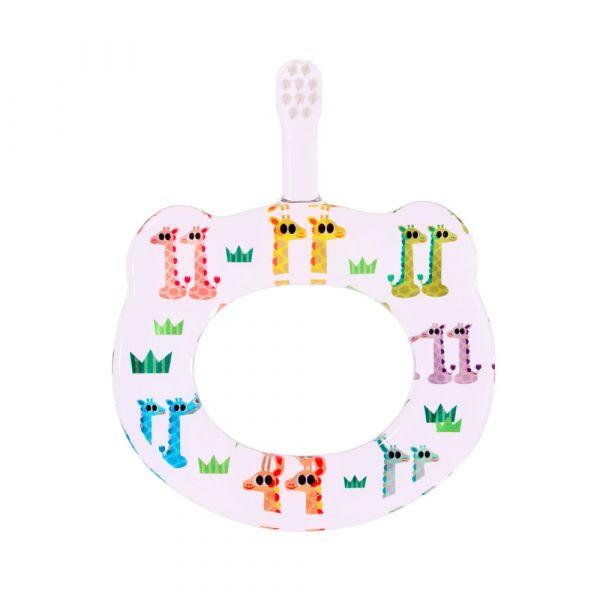 HAMICO寶寶顧齒牙刷-月份11長頸鹿
