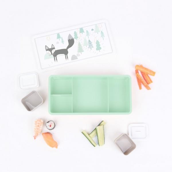 Love Mae野餐盒-漫步狐狸 Love mae,餐袋, 兒童餐具,野餐盒, 便當盒,無毒