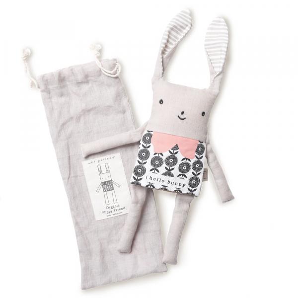 Wee gallery淘氣翻翻布偶-兔兔 娃娃,抱枕,填充,玩具,wee gallery,dumbow,安撫,可愛,寶貝