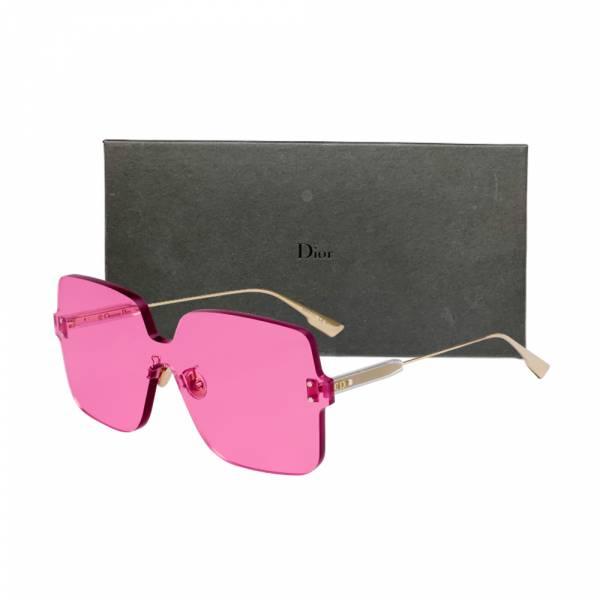 DIOR 粉色鏡片大框太陽眼鏡 DIOR 粉色鏡片無框太陽眼鏡