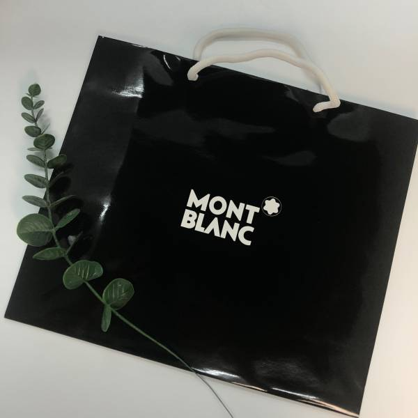 MONT BLANC 萬寶龍 精美黑色紙袋(大) MONT BLANC ,精美紙袋,香水,男香