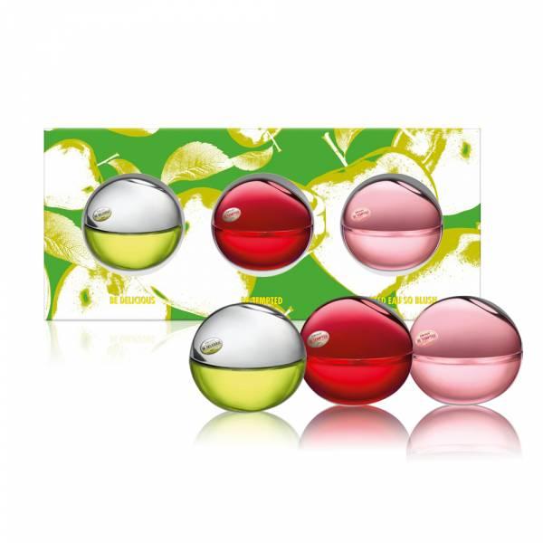 DKNY 迷你蘋果小香禮盒(7ML*3入) DKNY、蘋果、香水、禮盒、怦然、紅蘋果、青蘋果