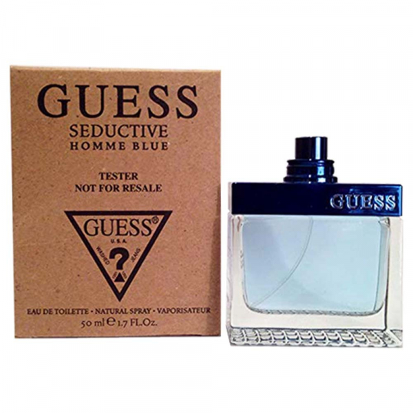 GUESS SEDUCTIVE HOMME BLUE 藍色魅惑男性 淡香水 50ml tester(環保盒無蓋) GUESS,SEDUCTIVE,HOMME BLUE,藍色魅惑男性,淡香水
