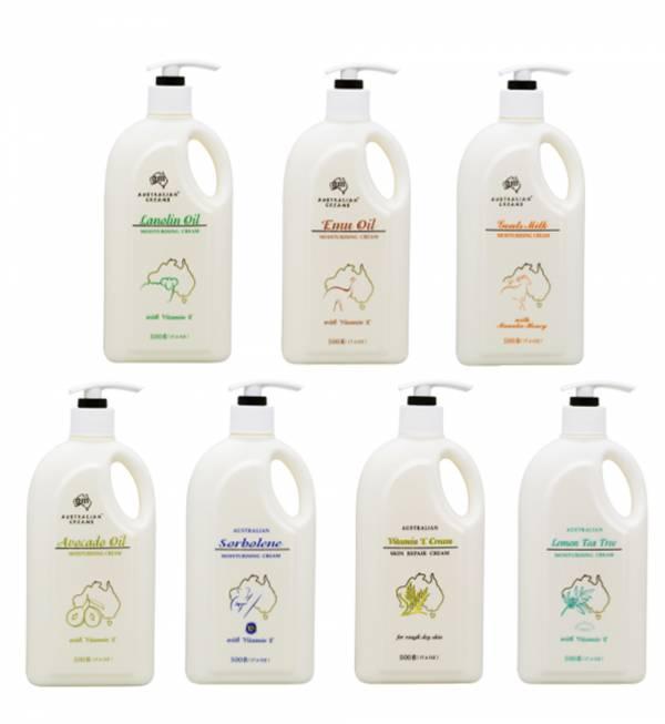 G&M 澳芝曼 AUSTRALIAN CREAMS 澳大利亞 澳洲綿羊乳霜 / 綿羊霜系列 500g (多款任選) -家庭號 G&M , AUSTRALIAN CREAMS,乳霜,面霜,澳洲,澳大利亞