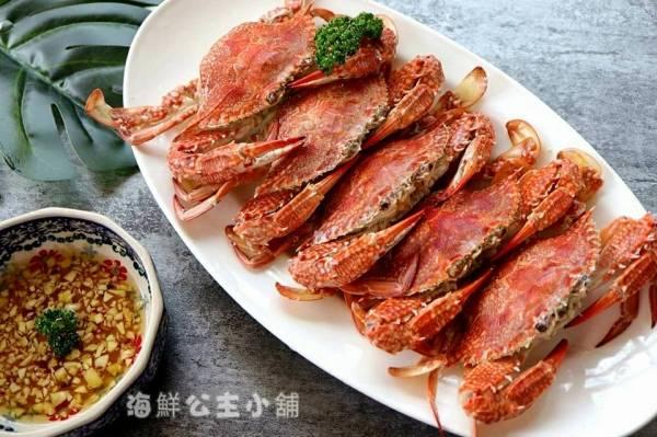 野生母花蟹(小組6隻)  每隻200~250g